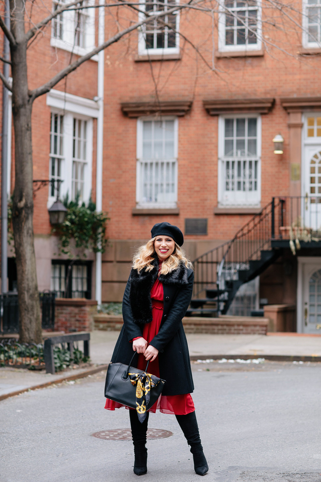 NYC Winter Style Blogger West Village Photo Shoot