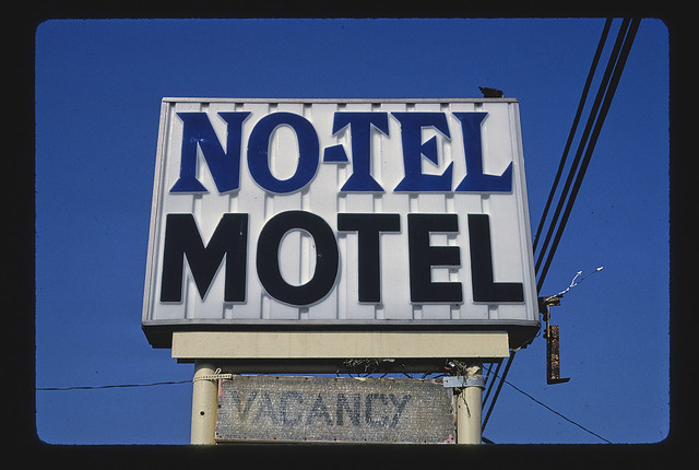 No-Tel Motel sign, Route 172, Massillon, Ohio (LOC)