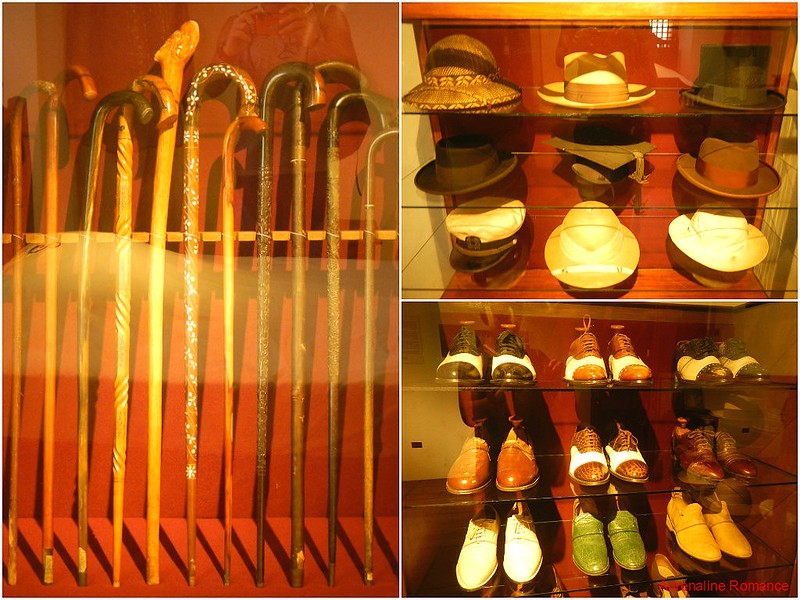 Canes, hats, and shoes of Mr. Quirino