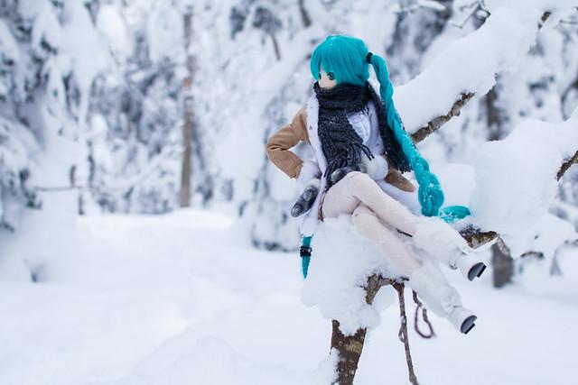 resting snow maiden