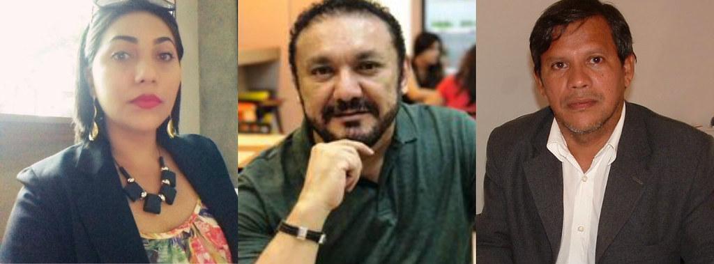 Os advogados que fazem a defesa dos acusados da Suplício de Tântalos, Ana Sarmento, osmando e Dilton