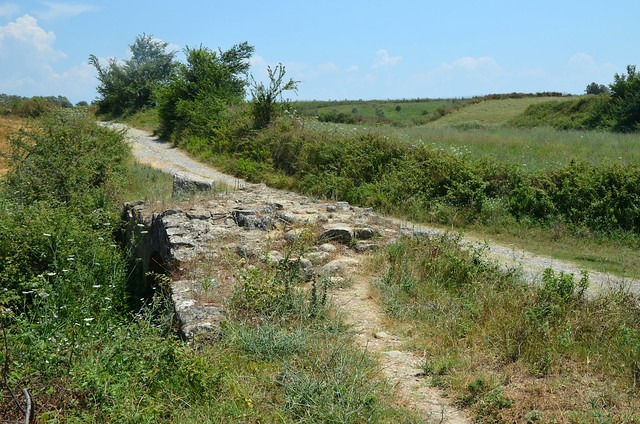 Late Roman bridge along the Via Egnatia near Peqin, Albania