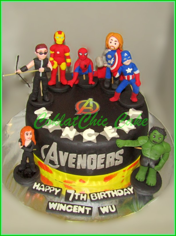 Cake The AVENGERS WINCENT WU 18 cm