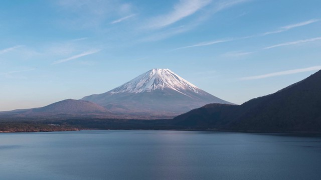 Day to Night Time-Lapse Video of Mt. Fuji