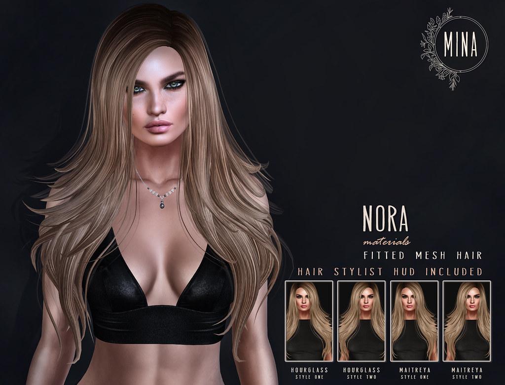 MINA Hair - Nora for Uber - TeleportHub.com Live!