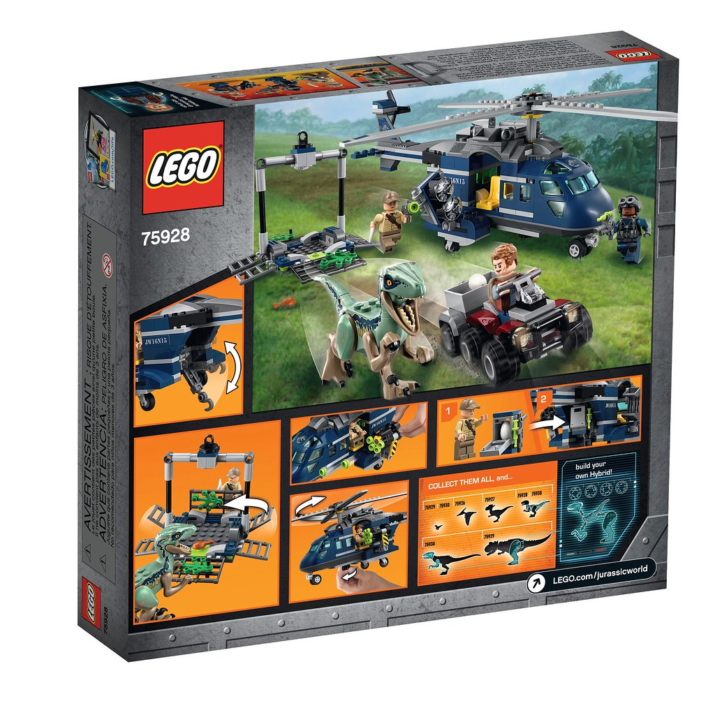 LEGO Jurassic World Fallen Kingdom 75928 - Blue's Helicopter Pursuit