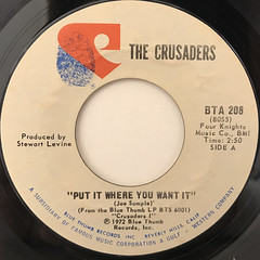 THE CRUSADERS:PUT IT WHERE YOU WANT IT(LABEL SIDE-A)