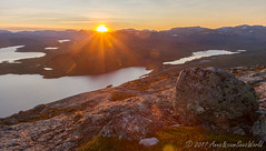 Sunset from Saana fjeld