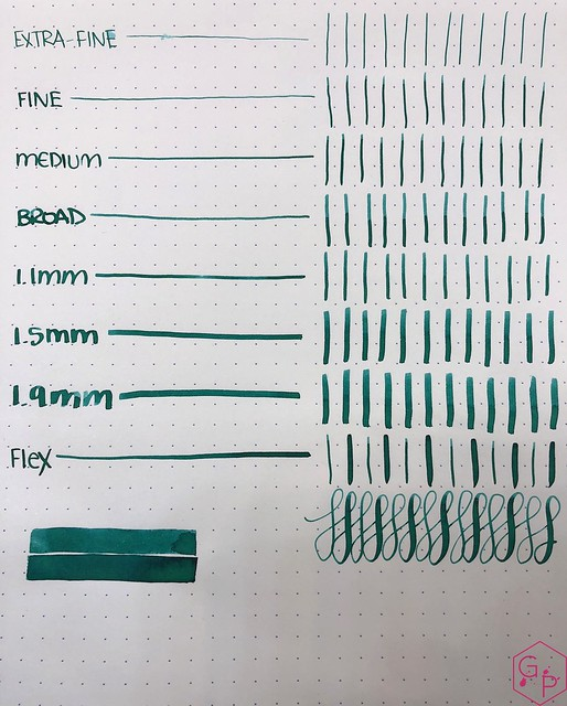 Ink Shot Review Monteverde Emerald Green @MonteverdePens @KnightsWritingC 7