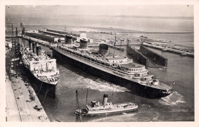 SS Normandie and RMS Queen Mary