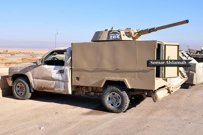 Chevrolet-with-BMP1-turret-captured-from-isis-in-syria-2017-spz-2