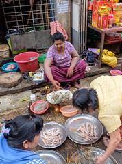 Yangon street markets
