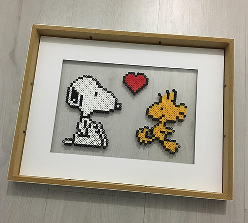 DIY perlerbeads snoopy picture