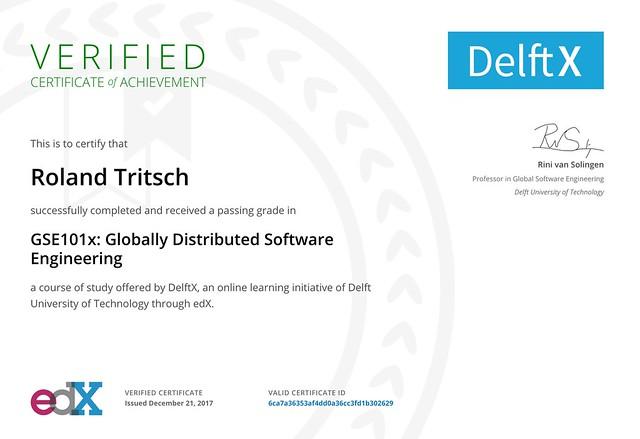 GDSE Certificate