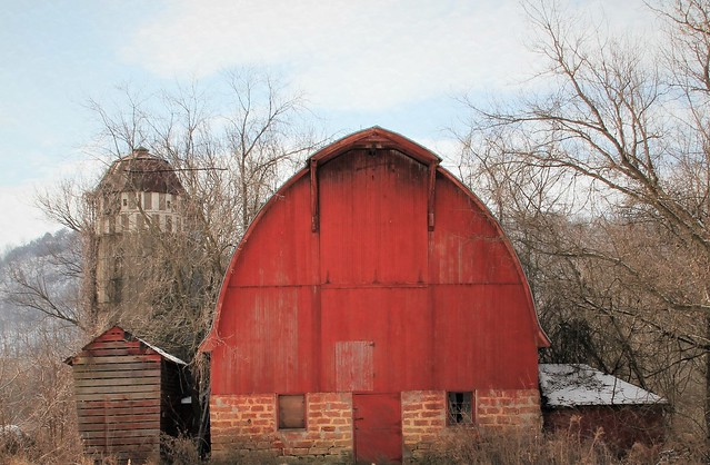A red barn