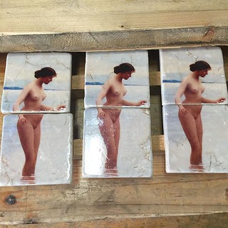 #marble #nakedwoman #badingwoman #henribanks #marmor #tile #classic #vintage