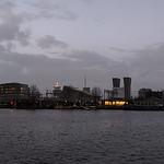 Uitzicht over het Oosterdok Amsterdam.