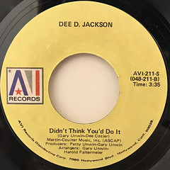 DEE D. JACKSON:AUTOMATIC LOVER(LABEL SIDE-B)