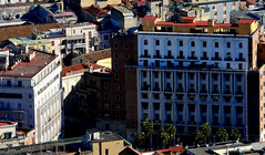 Buildings at Piazza Carità in Naples from castle SantElmo