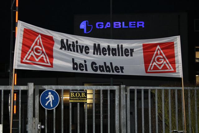 Ganztägiger Warnstreik bei Gabler Maschinenbau GmbH ! 02.02.2018