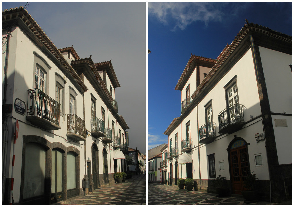 Cobbled streets of Ponta Delgada