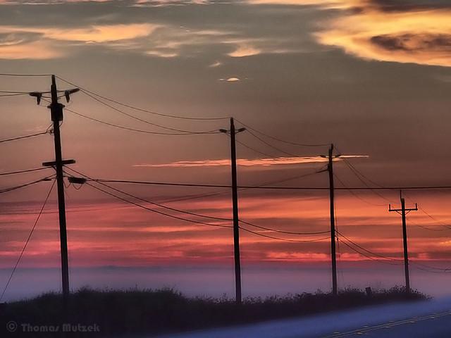 Sunset, Highway 1, Santa Cruz County, CA