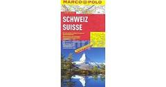 Rozkládací mapa Švýcarska s rejstříkem - 1:303T MP
