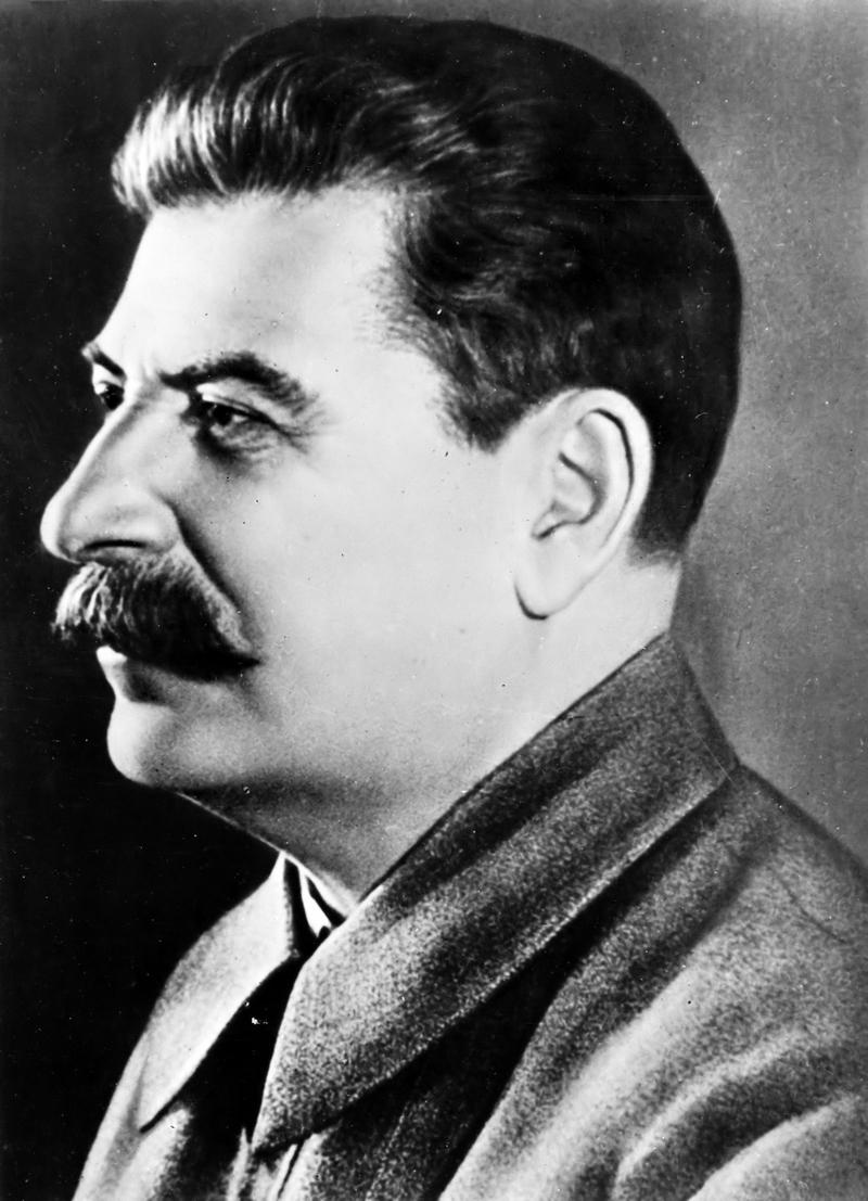 Photo of Joseph Stalin in profile