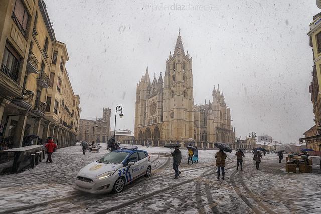 Nieva en León
