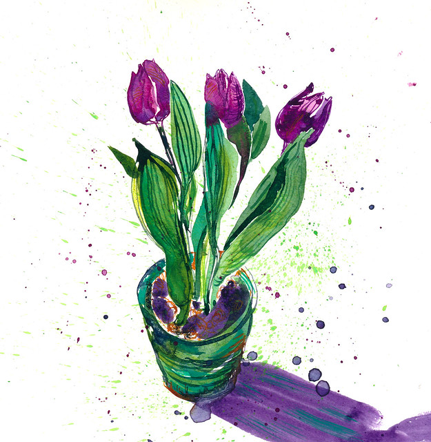 Sketchbook #111: Tulips, #1
