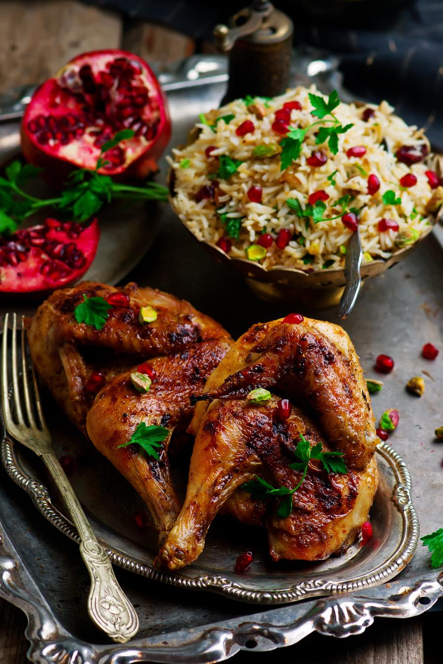 Persian Honey Glazed Chicken and Jeweled Rice.5