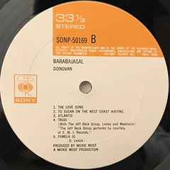 DONOVAN:BARABAJAGAL(LABEL SIDE-B)