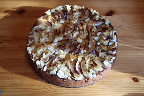 Veganer Apfel-Marzipan-Kuchen (ganz)