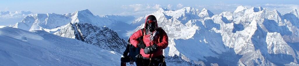 Expedition Mount Everest von Süden Nepal. Kurz vor dem Gipfel des Mount Everest, 8848 m. Foto: Archiv Härter.
