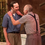 All My Sons at the Arvada Center, 2018 - Pictured L-R: Lance Rasmussen (Chris Keller) and Sam Gregory (Joe Keller).  Photo - Matt Gale Photography 2018