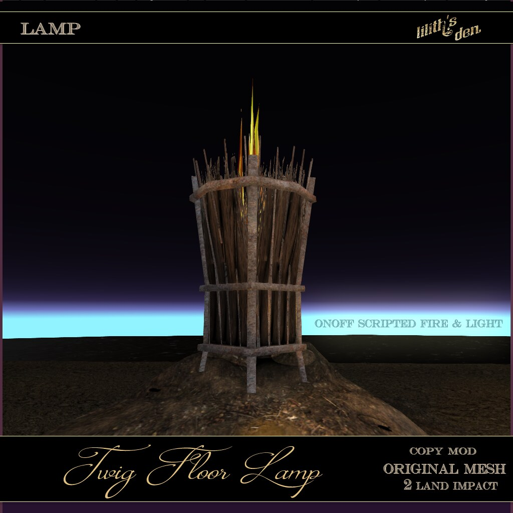 Lilith's Den – Twig Floor Lamp