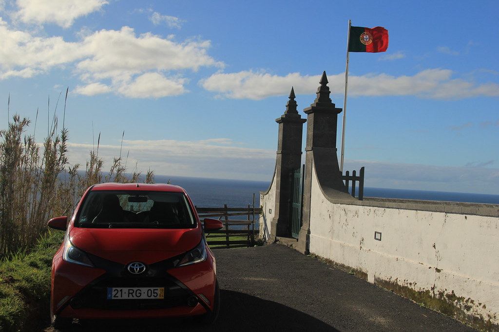 Our little rental car, São Miguel
