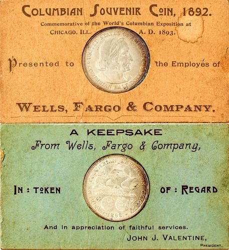1892 Wells Fargo Souvenir Columbian Half Dollar