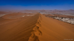 Footprints to Deadvlei