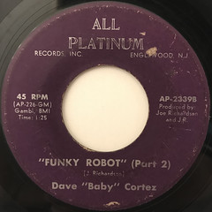 DAVE BABY CORTEZ:FUNKY ROBOT(LABEL SIDE-B)