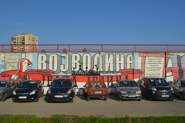 Graffiti of FC Vojvodina fans