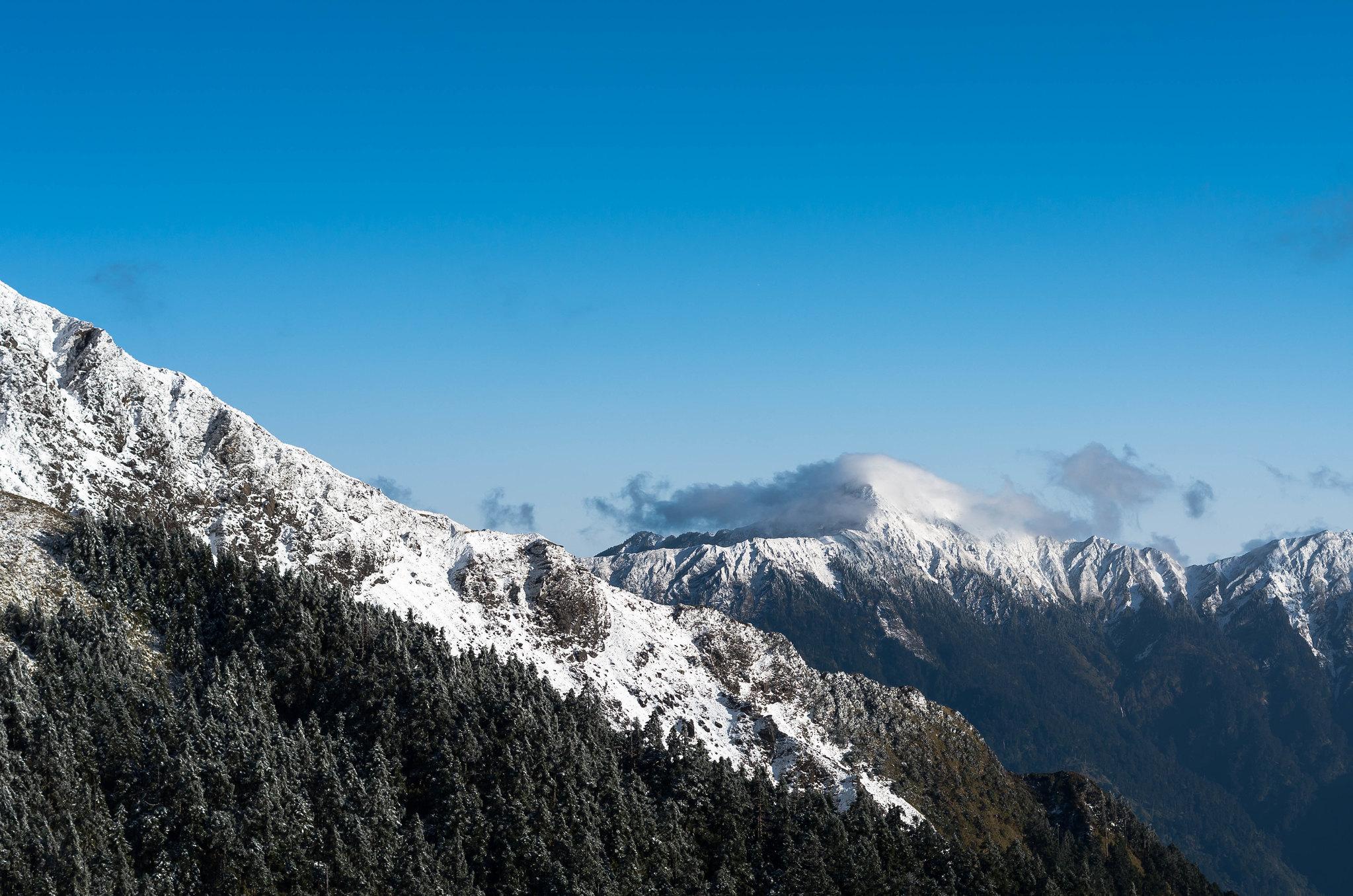 下雪的武嶺