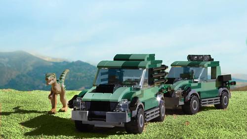 Lego Jurassic Park TLW Mercedes Benz MOC