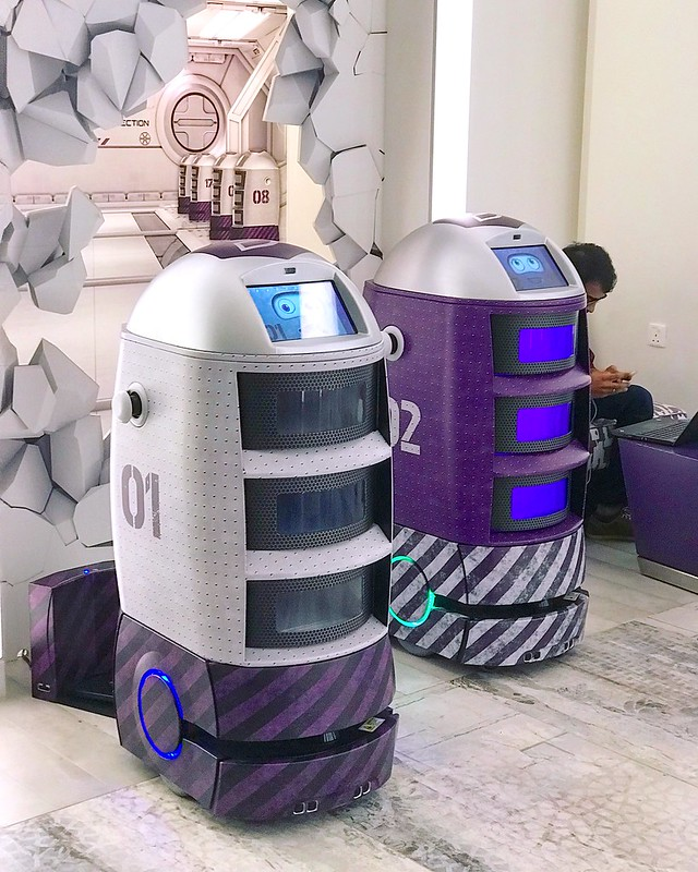 These delivery droids are the coolest things at Yotel Singapore