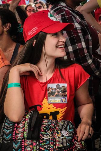 Ato das mulheres em defesa da democracia e do direito de Lula ser candidato - 23/01