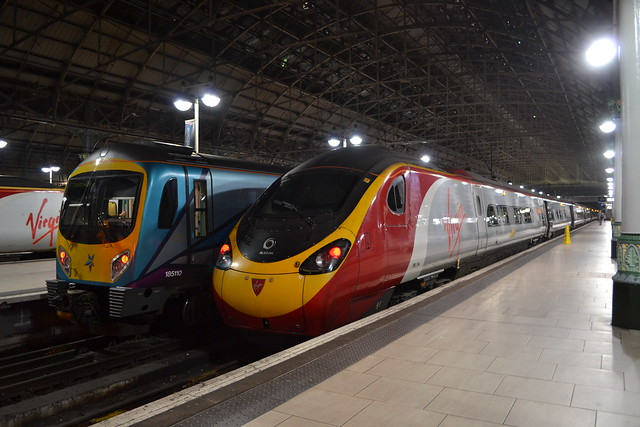 Transpennine Express Desiro 185110 & Virgin Trains Pendolino 390154 Matthew Flinders