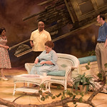 All My Sons at the Arvada Center, 2018 - Pictured L-R: Regina Fernandez (Ann Deever), Abner Genece (Dr. Jim Bayliss), Emma Messenger (Kate Keller), and Lance Rasmussen (Chris Keller). Photo - Matt Gale Photography 2018