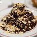 Profiteroles in chocolate sauce