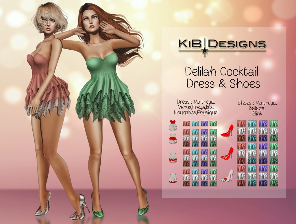 KiB Designs – Delilah Cocktail Dress & Shoes @Sense Event