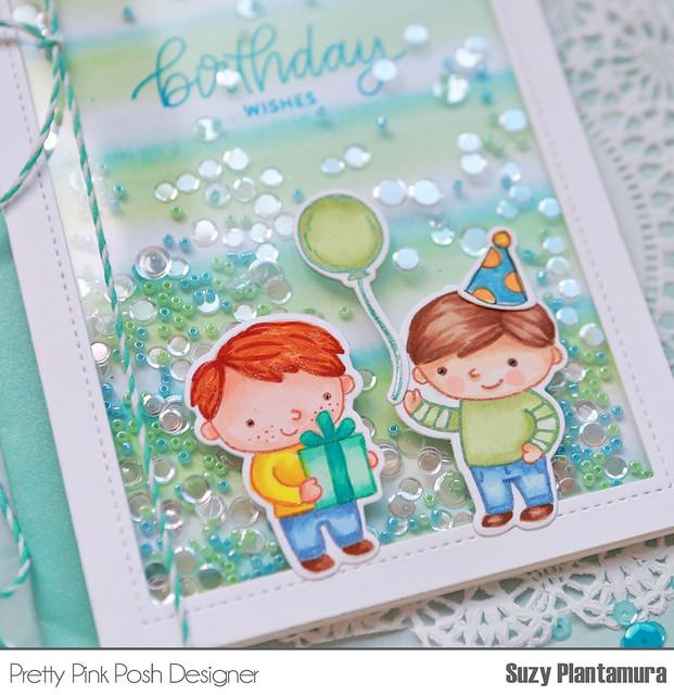 Birthday Wishes Shaker close up